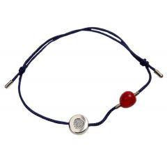 Bransoletka diamond circle na granatowym sznurku
