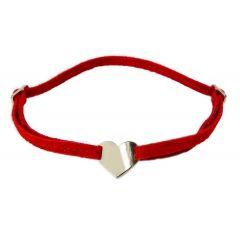 Bransoletka serduszko na czerwonym sznurku
