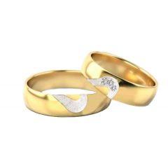 Obrączki ślubne magiczne serce ( złoto pr. 585)