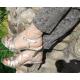 Bransoletka pancerka z dowolnym napisem na nogę