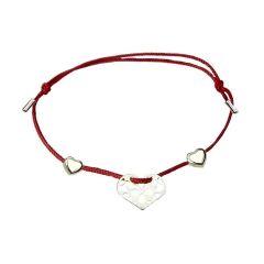 Bransoletka sznurkowa serca - kolekcja Amour