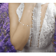 Bransoletka sznurkowa serduszko ,kółko, kwadracik - kolekcja Amour