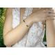 Bransoletka sznurkowa krzyżyk z serduszkiem