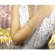 Bransoletka sznurkowa serduszko, kwadracik z cyrkonią - kolekcja Amour