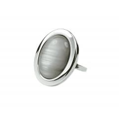 Pierścionek mały ,,Gray Loveliness'' ze srebra pr.925