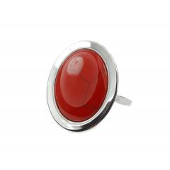 Pierścionek ,,Red Loveliness'' ze srebra pr.925