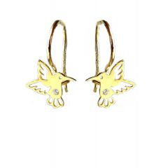 Kolczyki ,,Koliber'' wiszące z cyrkonią ze złota pr. 585