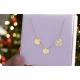 Naszyjnik celebrytka kółko,koniczynka,serce ażurowe ze złota pr.333