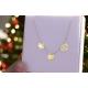 Naszyjnik celebrytka koniczynka, gwiazdka , ażurowe serduszko ze złota pr.333