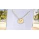 Naszyjnik koniczynka znak zodiaku Bliźnięta ze złota pr. 585