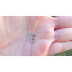 Naszyjnik ,,Literka E '' ze złota pr.585