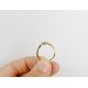 Pierścionek zaręczynowy z diamentami - złoto pr. 585