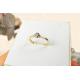 Pierścionek z brylantem - złoto pr. 585